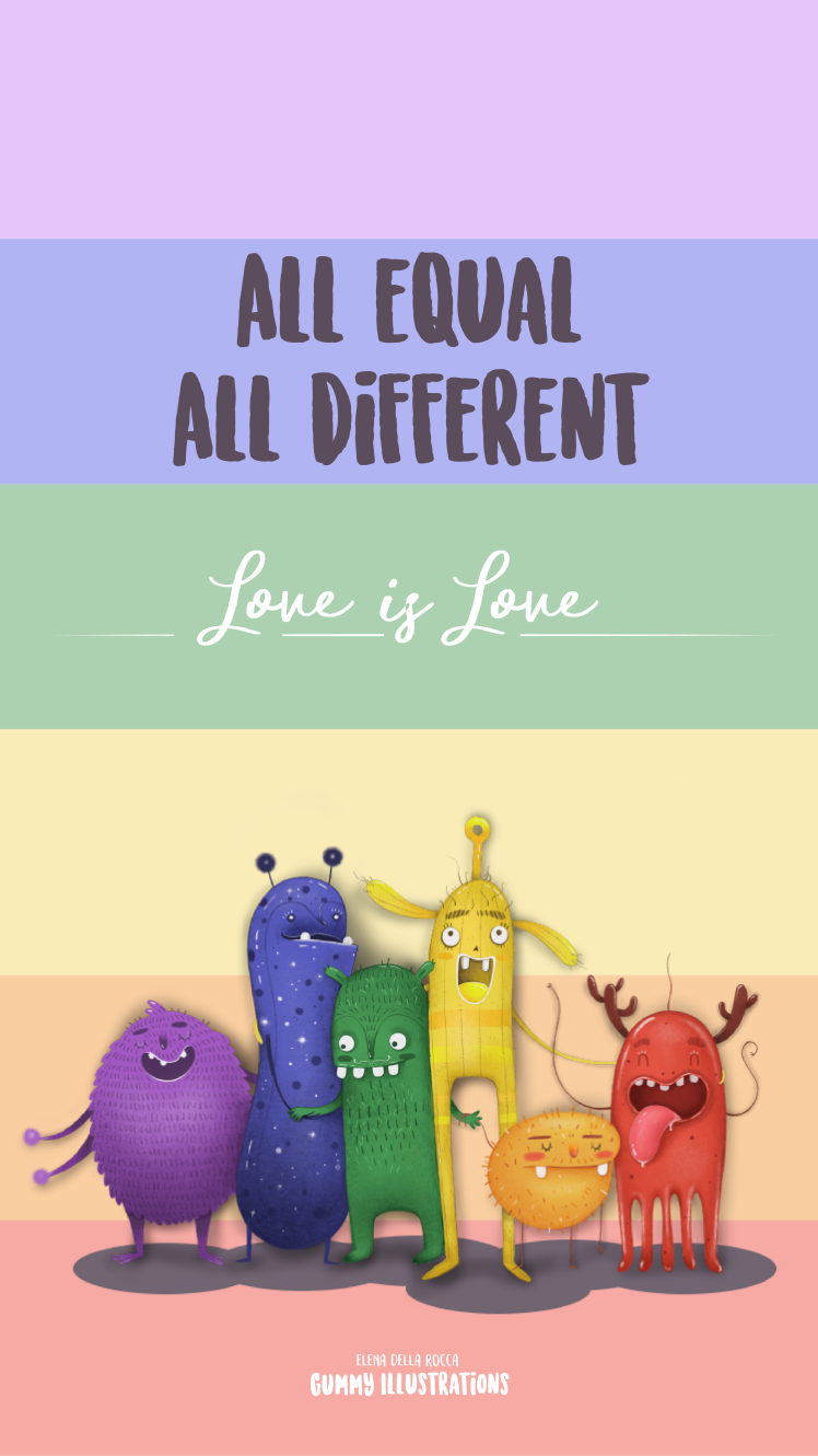 Gummy Illustrations_Love is Love_ phone